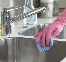 Kitchen sink can be a hotbed for germs so it is better to wipe it dry after every use.