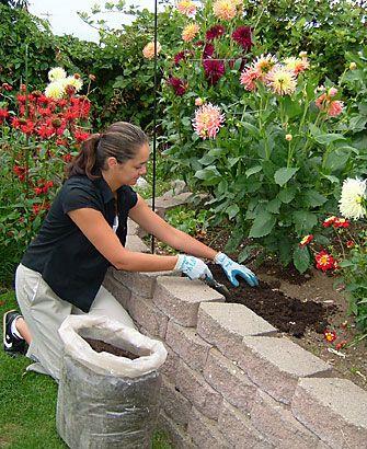I love to make flower garden.