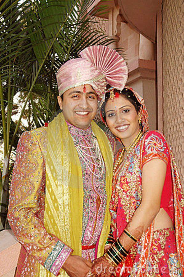Just married Maharashtrian couple.