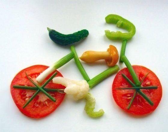 cool arrangement of salad to make kids eat..