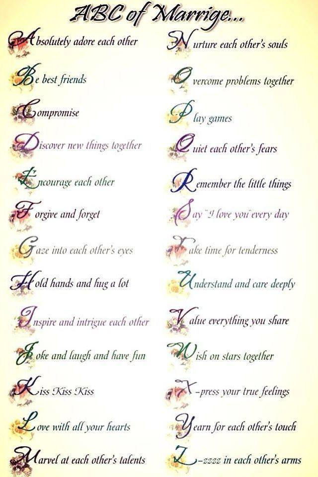 ABCs of Marriage. Enough Said!!