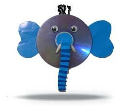 Use an old CD to make this with your kids..